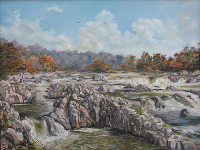 The Great Falls Art Print