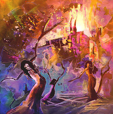 Painting - The Great Fire Of Woman by Miki De Goodaboom