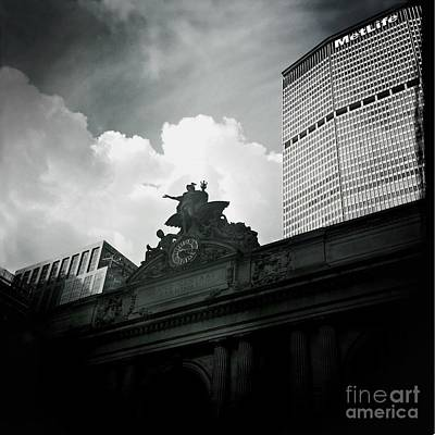 Photograph - The Great Grand Central Clock - Mercury And Metlife Building by Miriam Danar