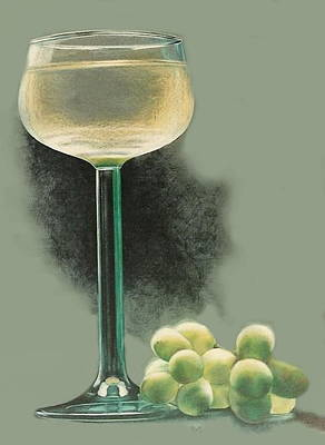 Drawing - The Great Grape by Barbara Keith