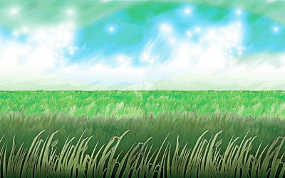 Mixed Media - The Great Grass Ocean by Ronald Horsley