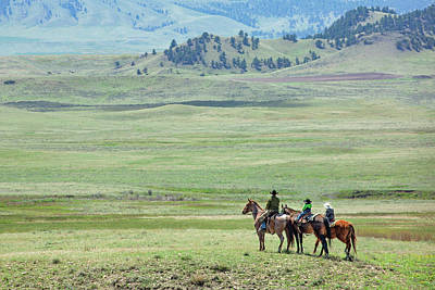 Roundup Photograph - The Great Montana Expanse by Todd Klassy