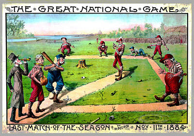 Mixed Media - The Great National Game by Charles Shoup