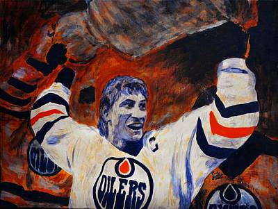 Gretzky Painting - The Great One by Carly Jaye Smith