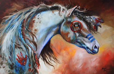 Indian Pony Painting - The Great One by Marcia Baldwin