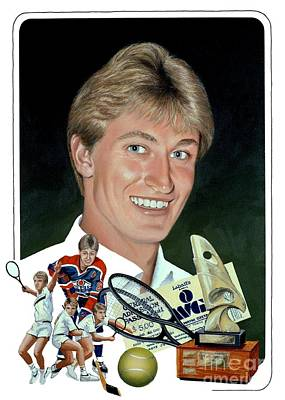 Gretzky Painting - The Great One - Oiler Days by Michael Swanson