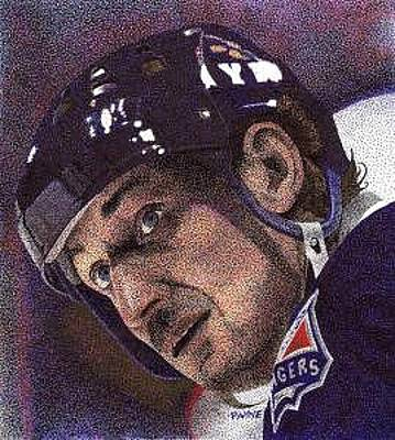 Art Of Hockey Drawing - The Great One by Rob Payne
