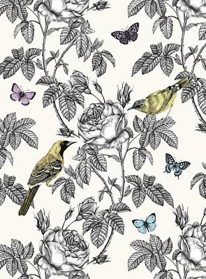 Floral Drawing - The Great Outdoors by Stephanie Davies