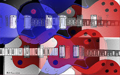 The Les Paul Guitar Photograph - The Great Rock And Roll Swindle by Bill Cannon
