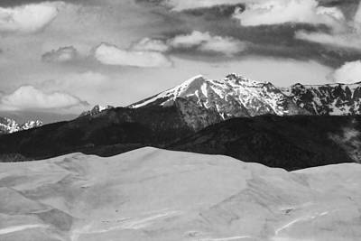 Photograph - The Great Sand Dunes And Sangre De Cristo Mountains - Bw by James BO  Insogna