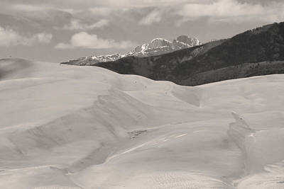 Photograph - The Great Sand Dunes  Bw Sepia by James BO  Insogna
