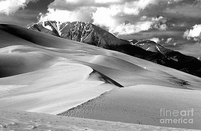 Photograph - The Great  Sand Dunes Colorado Bw by James BO  Insogna