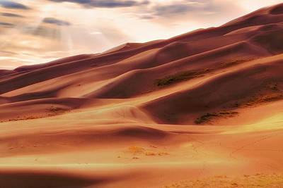 The Great Sand Dunes Of Colorado - Landscape - Sunset Art Print by Jason Politte