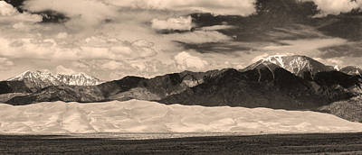 The Great Sand Dunes Panorama 2 Sepia Print by James BO  Insogna