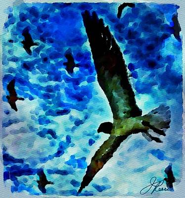 Art Print featuring the painting The Great Seagull by Joan Reese
