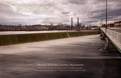 The Great Stone Dam Lawrence, Massachusetts Art Print