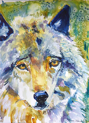 Painting - The Great Technicolor Wolf by P Maure Bausch