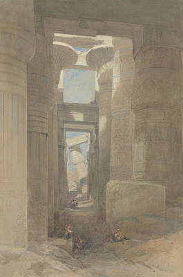 Painting - The Great Temple Of Amon Karnak, The Hypostyle Hall by David Roberts