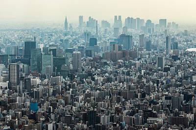 Tokyo Skyline Photograph - The Great Tokyo by Peteris Vaivars