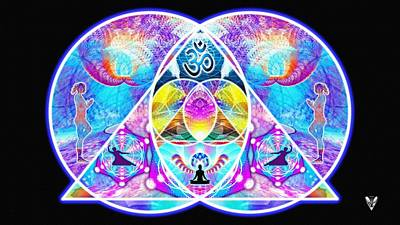 Digital Art - The Great Vesica Pyramid by Derek Gedney