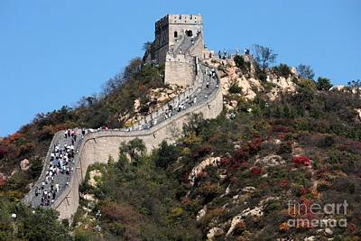 Historic Site Photograph - The Great Wall Mountaintop by Carol Groenen