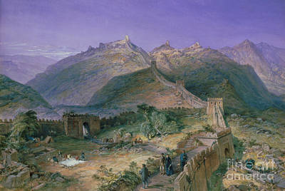Tibet Painting - The Great Wall Of China by William Simpson
