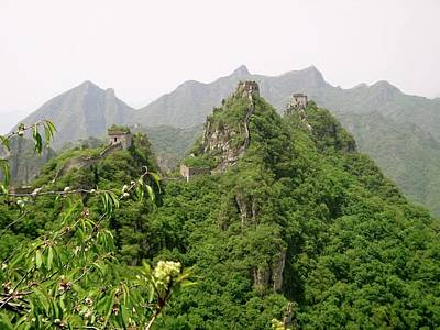Photograph - The Great Wall Of China Winding Over Mountains by Brandy Little