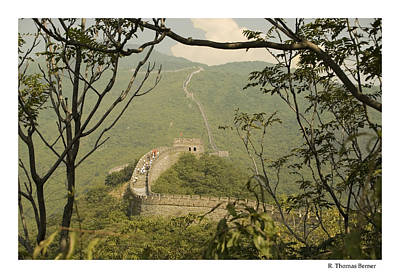 Art Print featuring the photograph The Great Wall by R Thomas Berner