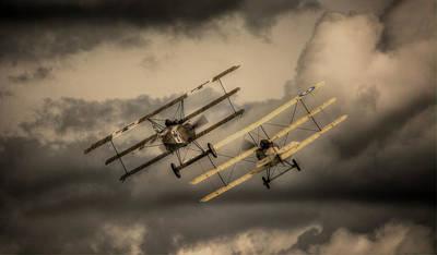 Bi Plane Digital Art - The Great War Display Team Battle by Nigel Bangert