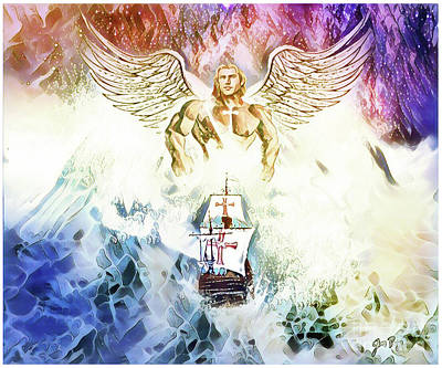 Digital Art -  The Great Waves Of Glory by Jennifer Page