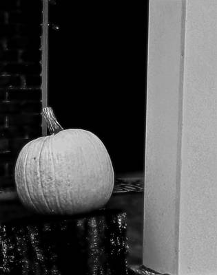 Photograph - The Great White Pumpkin by Kathy Barney