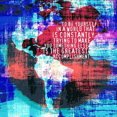 World Leaders Digital Art - The Greatest Accomplishment Emerson Quote V3 by Brandi Fitzgerald
