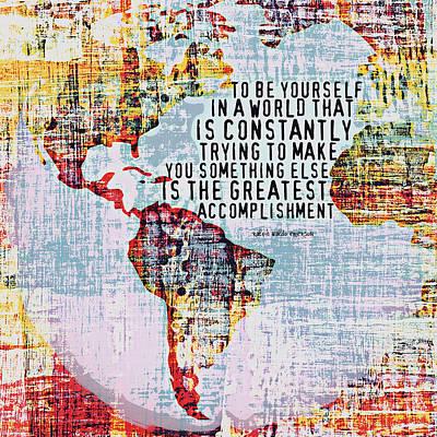 World Leaders Digital Art - The Greatest Accomplishment Emerson V3 by Brandi Fitzgerald