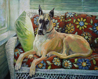 Big Dog Painting - The Greatest Dane by Tracie Thompson