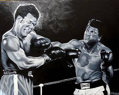 Knockout Painting - The Greatest - Muhammad Ali by Kay Ashton