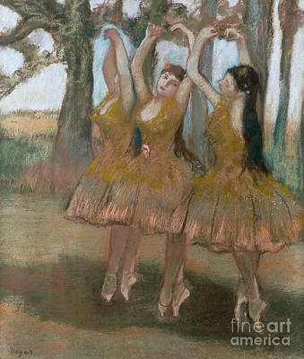 Ballet Dancers On The Stage Painting - The Greek Dance by Edgar Degas