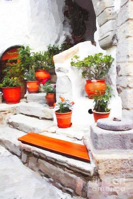 Digital Art - The Greek Garden Seat by Donna L Munro