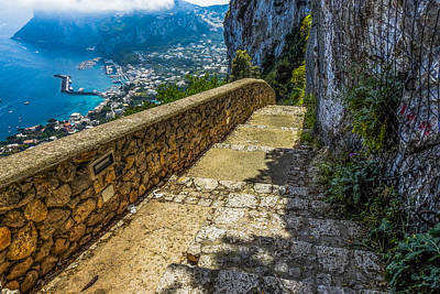 Photograph - The Greek Steps In Capri Italy by Marilyn Burton