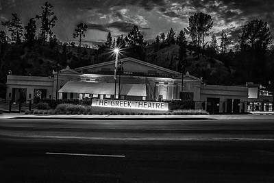 Photograph - The Greek Theater Bw by Robert Hebert