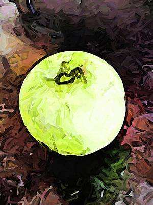 Digital Art - The Green Apple In The Bright Light by Jackie VanO