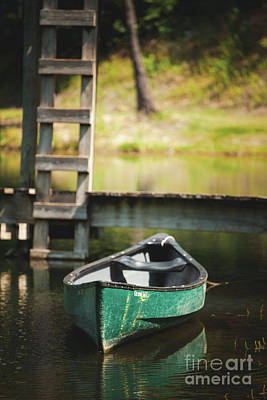 Photograph - The Green Boat by Iris Greenwell