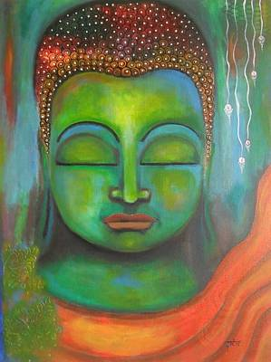 The Green Buddha Art Print
