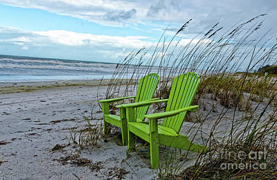 Photograph - The Green Chairs by Paul Mashburn