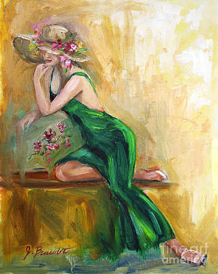 Painting - The Green Charmeuse  by Jennifer Beaudet