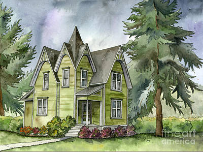 The Green Clapboard House Original by Shelley Wallace Ylst