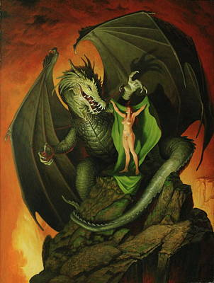 Painting - The Green Cloak by Jim Thiesen