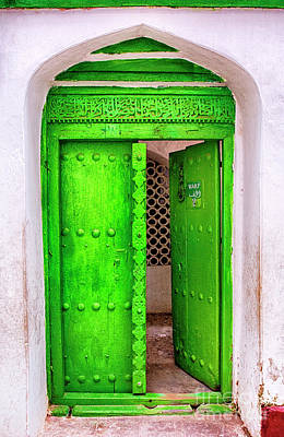Photograph - The Green Door by Amyn Nasser