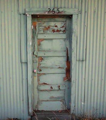 Photograph - Old Green Door by Dreamweaver Gallery