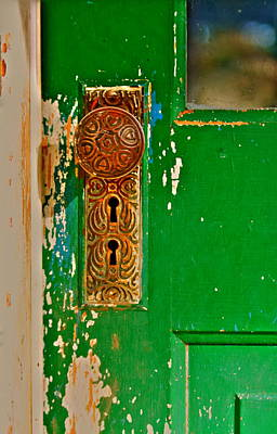Photograph - The Green Door by Karon Melillo DeVega