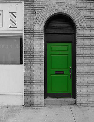 Photograph - The Green Door by Rodney Lee Williams